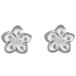 Plumeria post Earrings lg