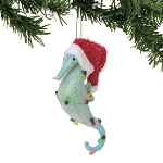 Seahorse Ornament with Santa Hat