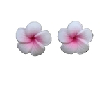 jennibeans mini pink plumeria earrings