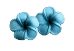 Jennibeans mini oceanblue plumeria earrings