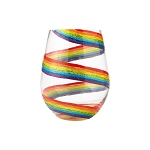 Rainbow stemless Wine