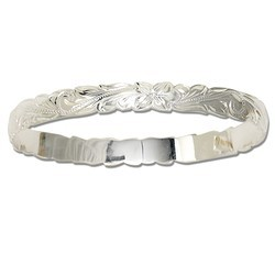 Sterling Silver Hawaiian Bangle