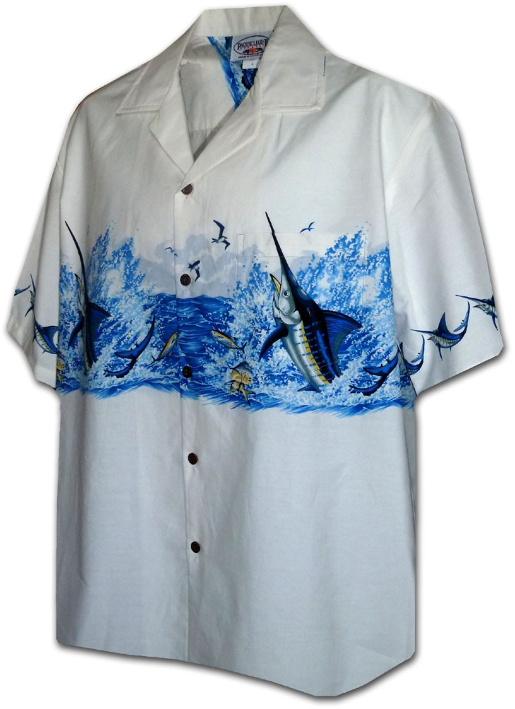 Marlin Border Aloha Shirt