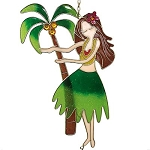 Hula Girl Chime