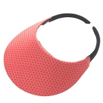 No Head Ache Visor in Coral Dot