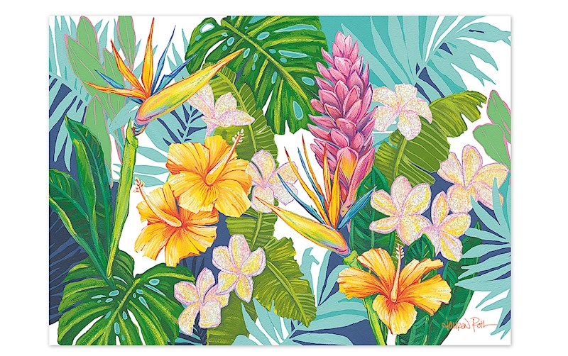 greeting card island blossoms