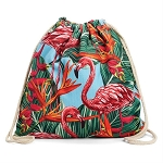 2in 1 Beach Towel Tropical Flamingo