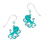Sienna Sky Aqua Octopus Earrings