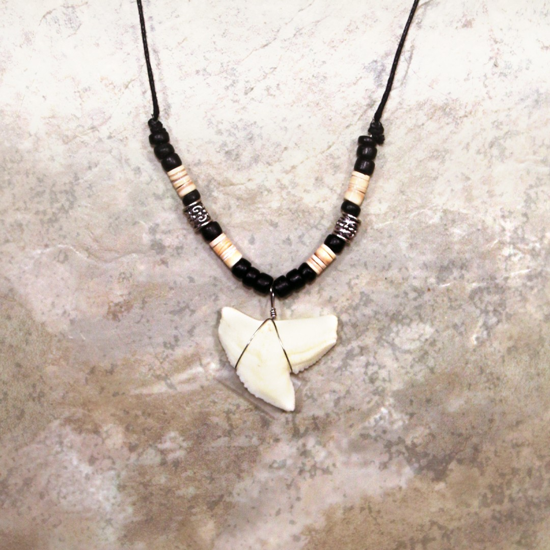 Resin Tiger Shark Tooth Necklace