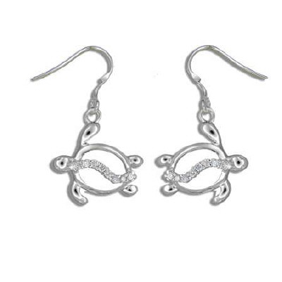 Silver Honu Earrings