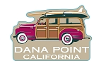 Sticker Vintage Surfin' Woody