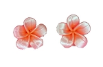 Jennibeans mini pearlized Plumeria Earrings