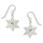 Sienna Sky Crystal Snowflake earrings