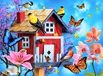 Puzzle - Red Bird House