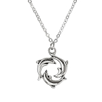 Circle of Dolphin Charm Necklace