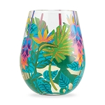 Stemless Glass Tropical Vibes