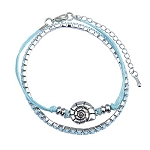 Wrap / String Bracelet with Ocean Charm