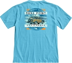Woody Hut T in Lake Blue