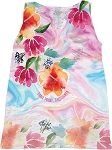 Ladies Burnout Tropical Keyhole Tank