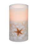 Starfish & Shells LED Candle