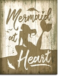 Metal Sign Mermaid at Heart