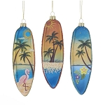 Glass Surfboard Ornaments
