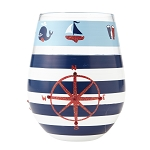 Anchors Away stemless Wine