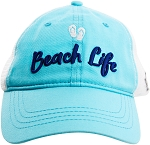 Beach Life Mesh Hat in Teal