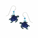 Blue Turtle Earrings