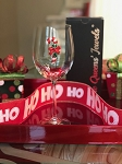 Candy Cane Stemmed Wine Glass Limited Edition