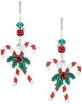 Sienna Sky Holiday Earrings Candy Cane