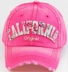 Distressed California Floral Pink