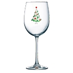 Christmas Tree Stemmed Glass