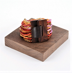 Wood Buckle Bracelet Multi