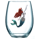 Mermaid stemless Glass