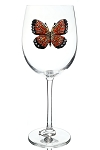 Stemmed Glass Monarch Butterfly