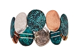 Patina Mix Stretch Bracelet