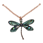 Patina Dragonfly Necklace