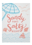 Sandy Toes... Kitchen Towel