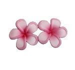 Mini Pink Rimmed Plumeria Earrings