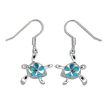Silver Opal Honu Earrings