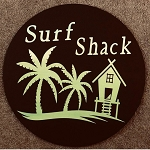 Round Beach Sign Surf Shack
