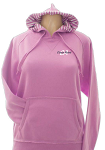 Sweatshirt with Striped Hood in Orchid
