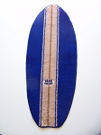 Surfboard Rug in Dark Blue/beige