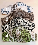 Hawaiian Print mask / Velcro closure Men Size
