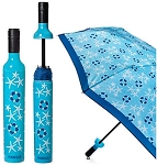 Wine Bottle Umbrella Coastal