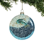 Wave Ornament with Dolphin