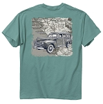 Woody Map Print T in Seafoam