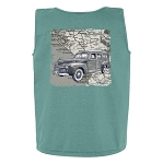 Woody Map Print Tank Top