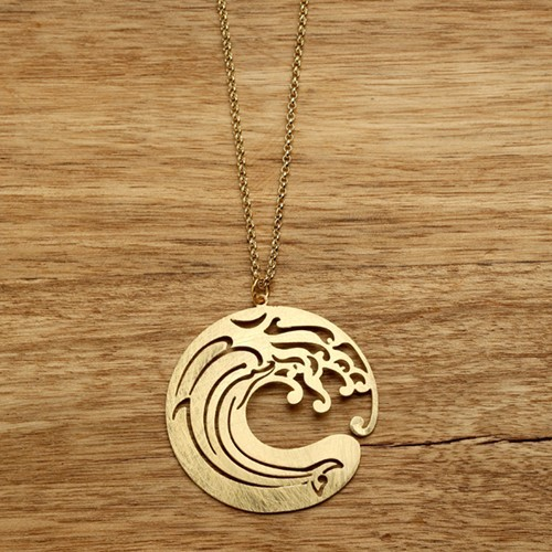 Wave Necklace in Gold